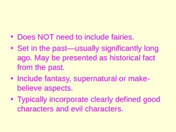 Common Elements of Fairy Tales- powe rpoint