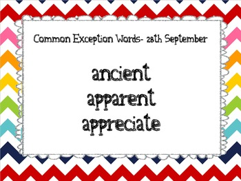 Common Exception words year 5 and 6