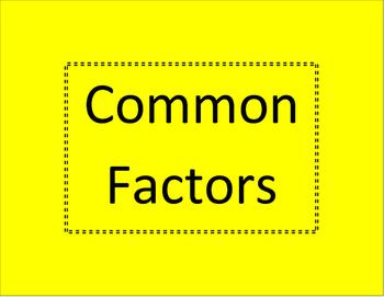 Common Factors
