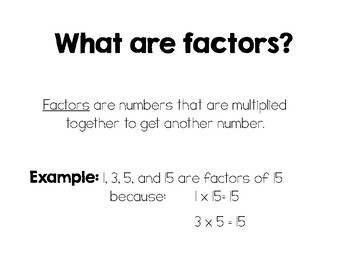 Common Factors Presentation