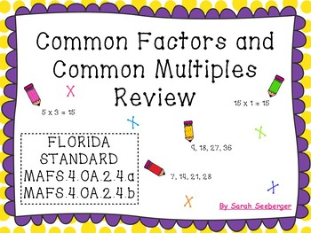 Common Factors and Common Multiples Review