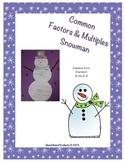 Common Factors and Multiples Snowman