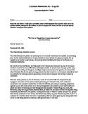 Common Formative Assessment-Argument/Claim