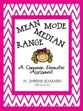 Mean, Median, Mode, and Range: A Common Formative Assessment