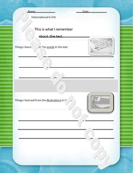 Common Formative Assessment for Informational 6 and Literature 7