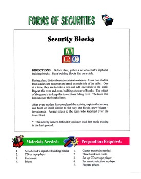 Common Forms Of Securities Lesson