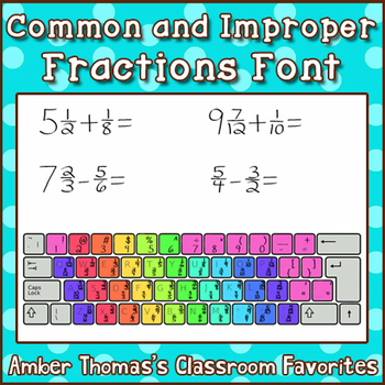Common Fractions and Improper Fractions Font