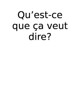 Common French Classroom Questions posters