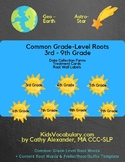 Common Grade-Level Root Words 3rd-9th Grade
