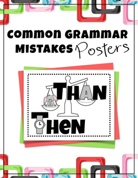 Common Grammar Mistakes Posters