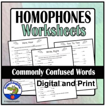Common Homonyms Worksheet Commonly Confused Words By Happyedugator