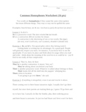 Common Homophones Worksheet (its, it's, there, their, they're)