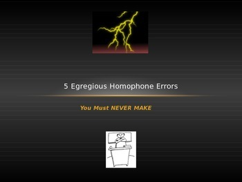 Common Homophone Errors (5 Egregious Homophone Errors You Must Never Make)