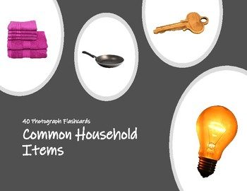 Common Household Items Photo Flashcards