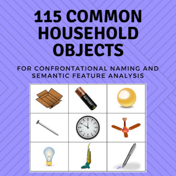 Common Household Objects - Confrontational Naming, Semantic Feature Analysis