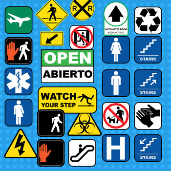 Common Infographics and Signs Around Town - Clip Art Set
