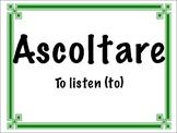 Common Italian Verbs Flashcards
