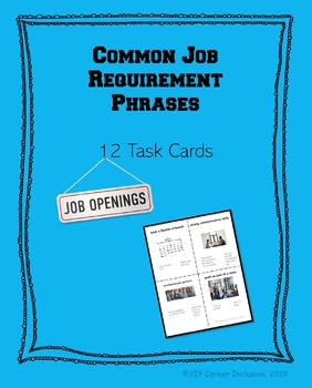 Common Job Requirement Phrases Task Cards