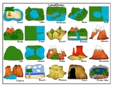 Common  Landforms (Clipart Version): Mini Matching Cards