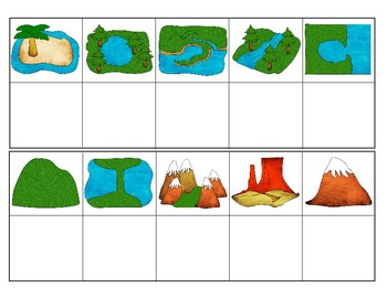 common landforms clipart version mini matching cards tpt rh teacherspayteachers com different landforms clipart River Clip Art