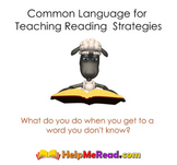 Common Language for Teaching Reading Strategies Smartboard