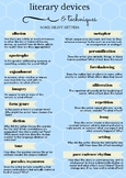 Common Literary Devices and Techniques Poster