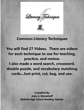 Common Literary Techniques Supplemental Activities