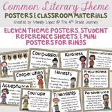 Identifying Theme: Common Literary Theme Posters & Classro