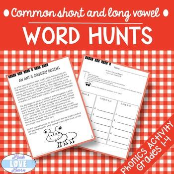 Long Vowel Word Hunts