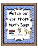 Common Math Errors