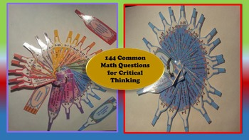 Common Math Questions and Tasks Cards