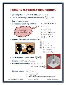 Common Mathematics Errors