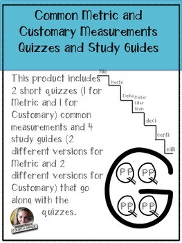 Common Measurement Quizzes and Study Guides