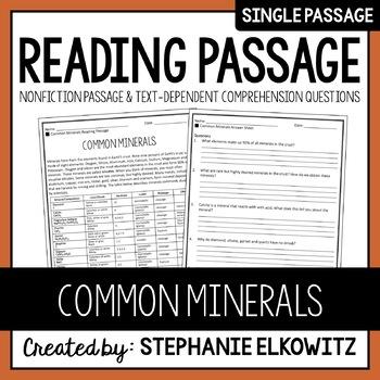 Common Minerals Reading Passage