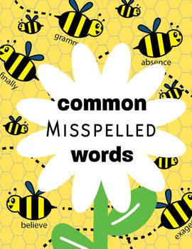 NO PREP Common Misspelled Words Unit