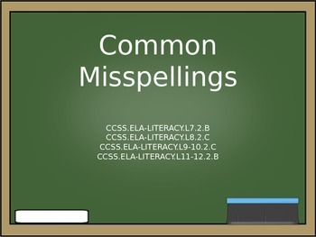 Common Misspellings