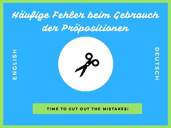 Common Mistakes When Using the English Prepositions (in German)