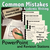 Common Mistakes in Academic Writing PowerPoint and Revisio