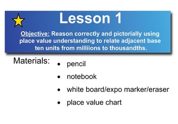 Common Core 5th Grade Math Module 1 Topic A