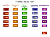 Common More Math Jeopardy