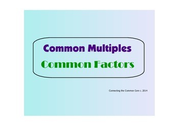Multiples and  Factors - PDF Visuals for Classroom Use and Practiice