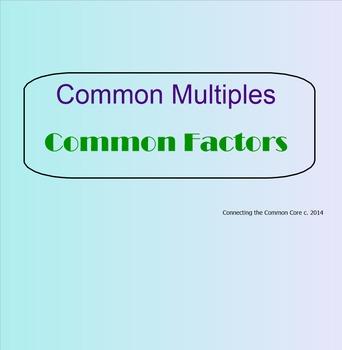 Multiples and  Factors - Smartboard Visuals Lesson