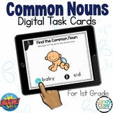 Common Noun Activities: 1st Grade Grammar BOOM Cards™ for