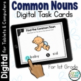 Common Noun Activities: First Grade Digital Task Cards for