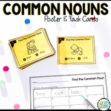 Common Noun Anchor Chart and Task Cards for First Grade Centers