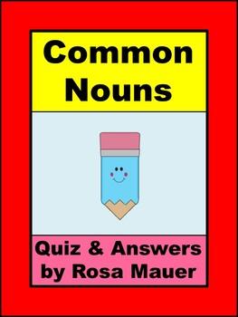 Common Noun Slide Show Quiz, Response Form, and Answer Key