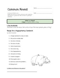 Common Noun Practice - Shel Silverstein