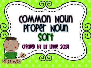 Common Noun-Proper Noun Sort