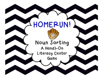 Common Noun Sorting Literacy Center Game
