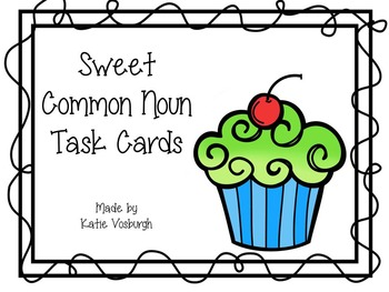 Common Noun Task Cards